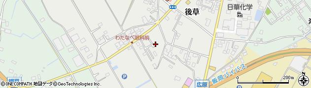千葉県旭市後草1297周辺の地図