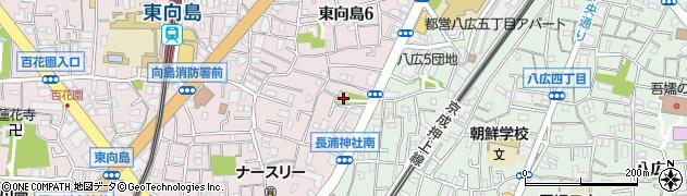 長浦神社周辺の地図