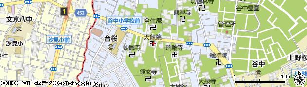 天竜院周辺の地図
