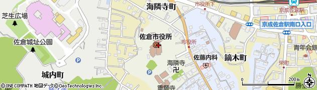 千葉県佐倉市周辺の地図