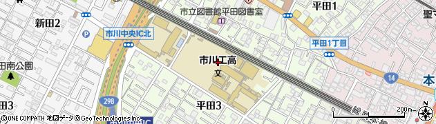 千葉県市川市平田周辺の地図