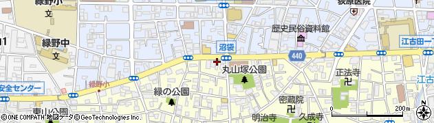 奏食堂周辺の地図