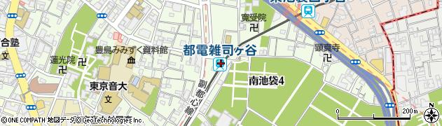東京都豊島区周辺の地図
