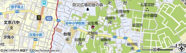 全生庵周辺の地図
