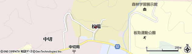 岐阜県関市松場周辺の地図