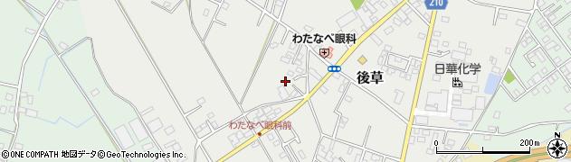 千葉県旭市後草1003周辺の地図