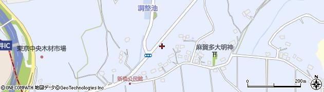 千葉県富里市新橋周辺の地図