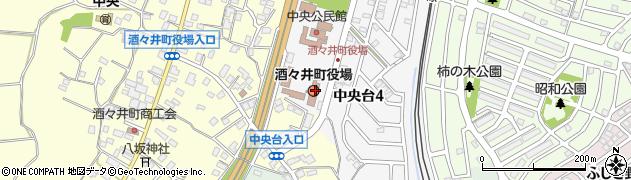 千葉県印旛郡酒々井町周辺の地図