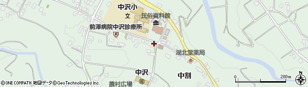 長野県駒ヶ根市中沢周辺の地図