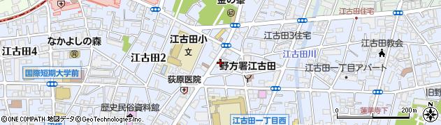 東京都中野区江古田周辺の地図