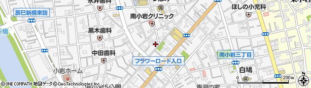東京都江戸川区南小岩周辺の地図