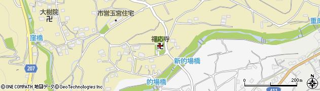 福応寺周辺の地図