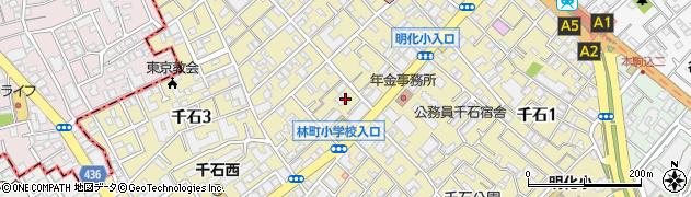 東京都文京区千石周辺の地図