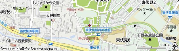 東伏見稲荷神社周辺の地図