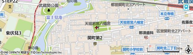 天祖若宮八幡宮周辺の地図