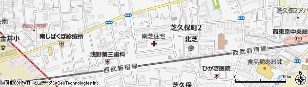 南芝住宅周辺の地図