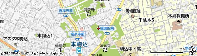 徳源禅院周辺の地図