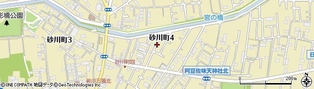 東京都立川市砂川町周辺の地図