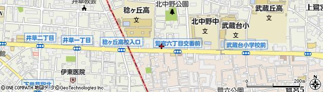 香香厨房中野店周辺の地図