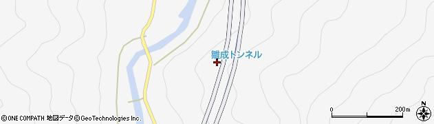 雛成トンネル周辺の地図