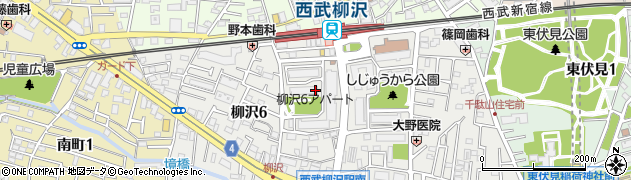 都営柳沢六丁目アパート周辺の地図
