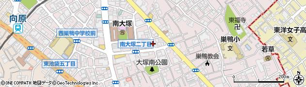 東京都豊島区南大塚周辺の地図