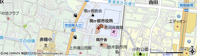 長野県駒ヶ根市周辺の地図