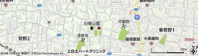 白幡天神社周辺の地図