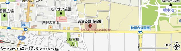 東京都あきる野市周辺の地図