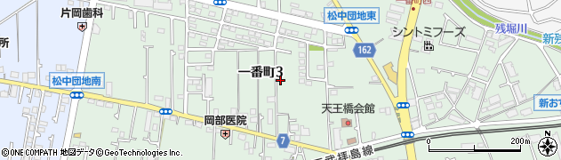 東京都立川市一番町周辺の地図