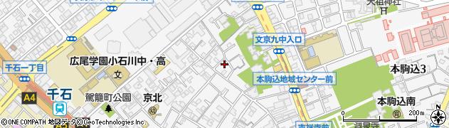東京都文京区本駒込周辺の地図