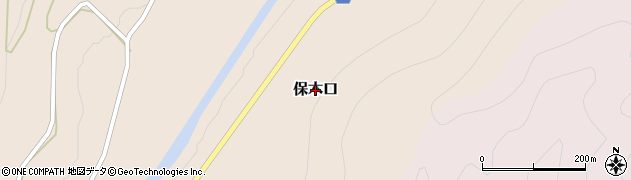 岐阜県関市保木口周辺の地図