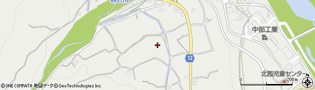山梨県韮崎市清哲町周辺の地図