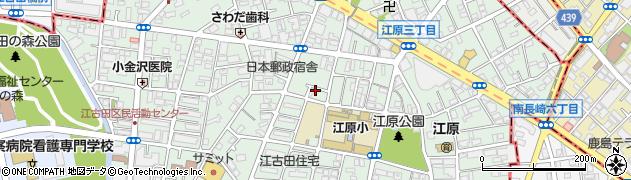 東京都中野区江原町周辺の地図