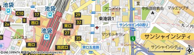 東京都豊島区東池袋1丁目10周辺の地図