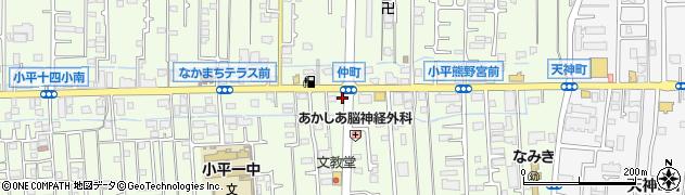 十七代目哲麺 小平店周辺の地図