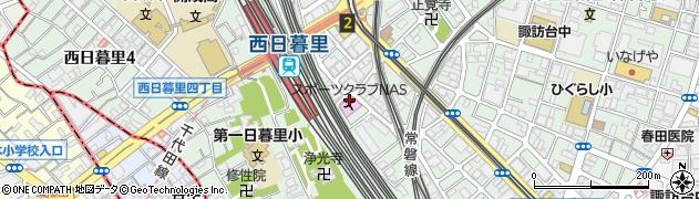 東京都荒川区西日暮里5丁目20周辺の地図
