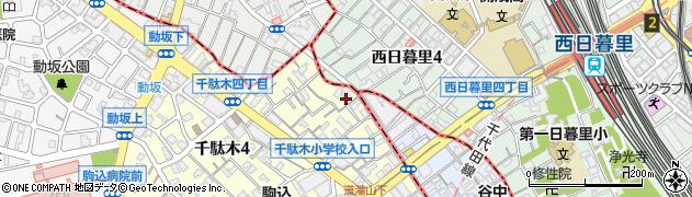 東京都文京区千駄木4丁目19-13周辺の地図