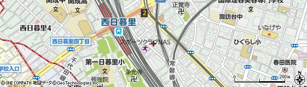 東京都荒川区西日暮里5丁目18周辺の地図