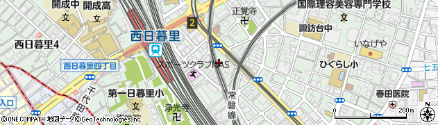 東京都荒川区西日暮里5丁目16周辺の地図