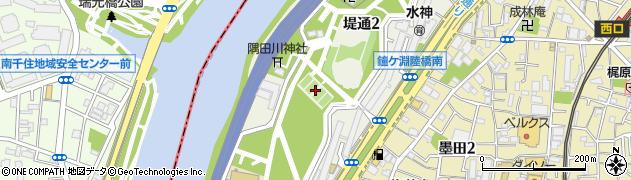 東京都墨田区堤通周辺の地図