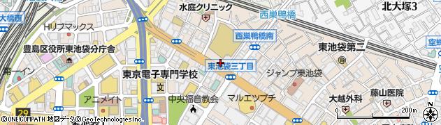 東京都豊島区東池袋2丁目51-2周辺の地図