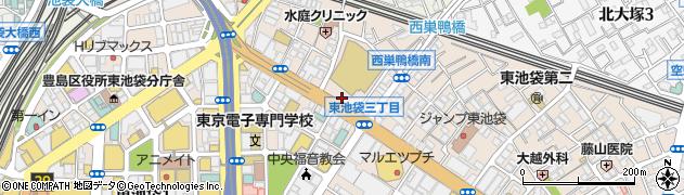 東京都豊島区東池袋2丁目51-3周辺の地図