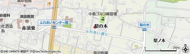 長野県駒ヶ根市梨の木周辺の地図