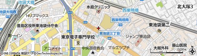 東京都豊島区東池袋2丁目51周辺の地図
