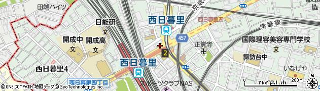 東京都荒川区西日暮里5丁目34周辺の地図