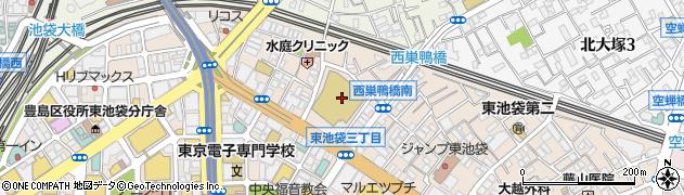 東京都豊島区東池袋2丁目51-4周辺の地図