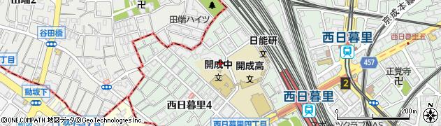 向陵稲荷神社周辺の地図