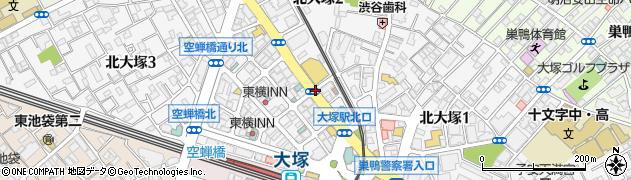 東京都豊島区北大塚周辺の地図