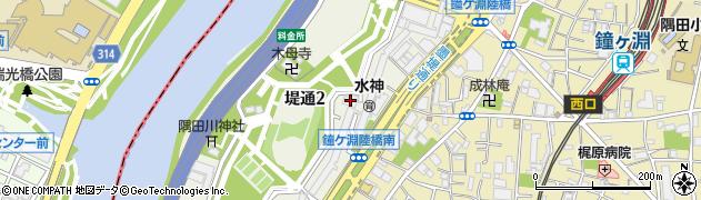 白鬚東アパート周辺の地図